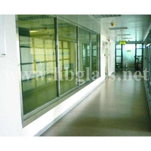 British standard BS476 fireproof glass fixed window