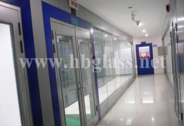 Ground Spring Fireproof Glass Door