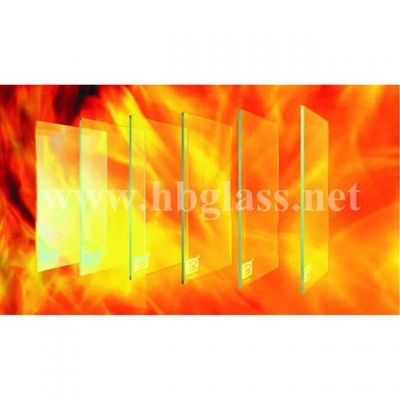 British standard BS476 single layer fire-resistant glass