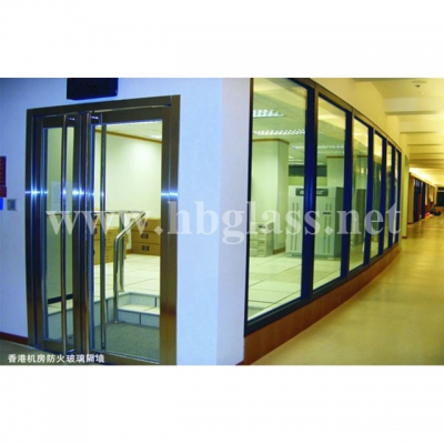 British standard BS476 fireproof glass partition wall